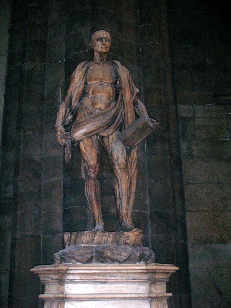 San Bartolomeo Statue - Milan, Italy