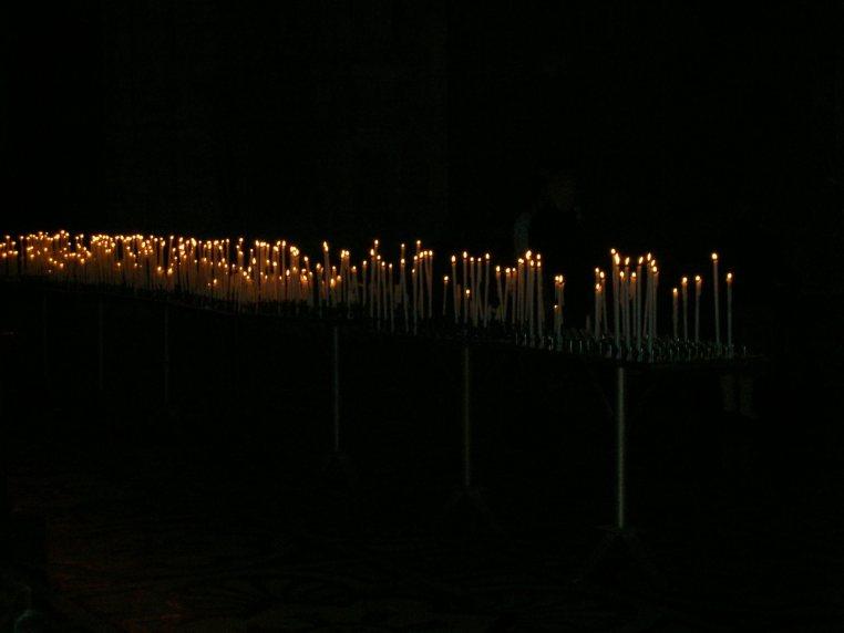 Candles at Cathedral Duomo - Milan, Italy