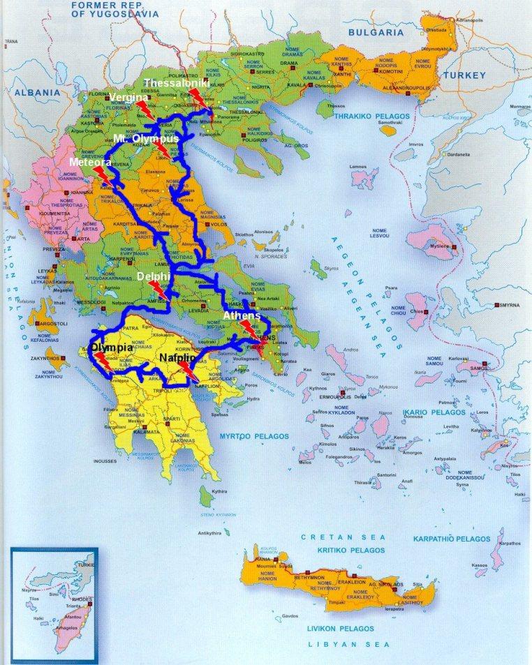 Greek Road Trip - Our Roadtrip Map
