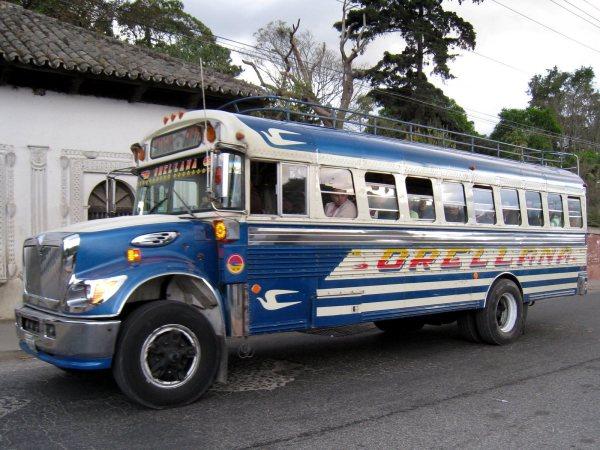 Chicken Bus Guatemala City, Guatemala