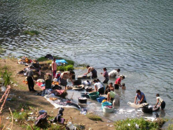 Wash Day Lake Atitlan Guatemala