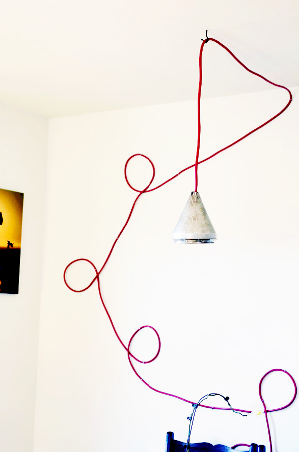 Colored Cord Hanging Lamp Diy A Side Of Sweet