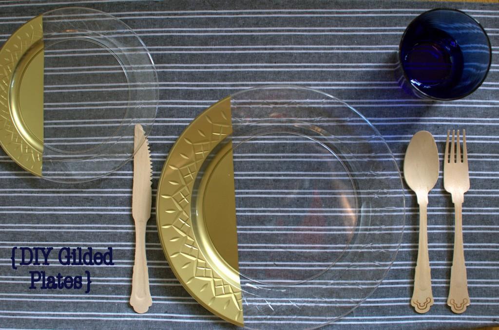 Gilded Plastic Plates   Running Blonde