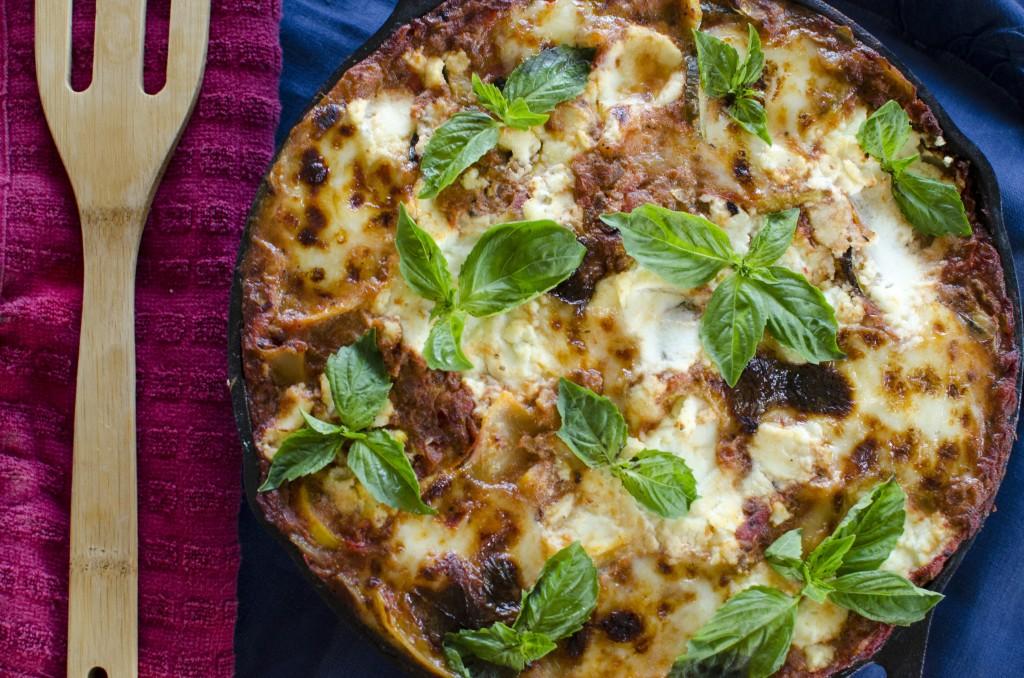 Skillet Vegetarian Lasagna Recipe   Running Blonde