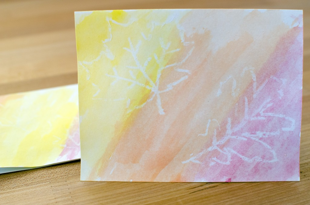Easy Fall Leaf Watercolor Greeting Cards | Running Blonde