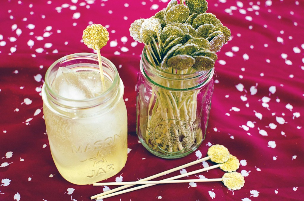 DIY Glitter Drink Swizzle Sticks | Running Blonde