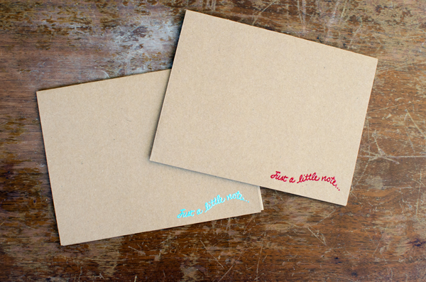 Easy Embossed Greeting Card - Just a note