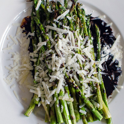 Roasted Asparagus with Balsamic Vinegar and Parmesan - A Side of Sweet