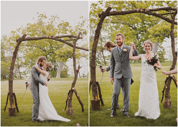 Happy Anniversary - Reclaimed Wood Wedding Archway by Pat