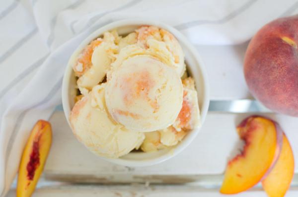 Peach Swirl Buttermilk Ice Cream Recipe