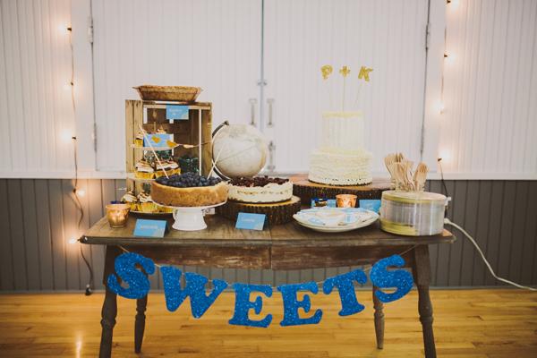 DIY Dessert Table with Glitter Letter String