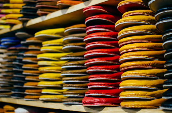 Morocco Honeymoon :: Visiting the Fez Tanneries - Leather Slippers