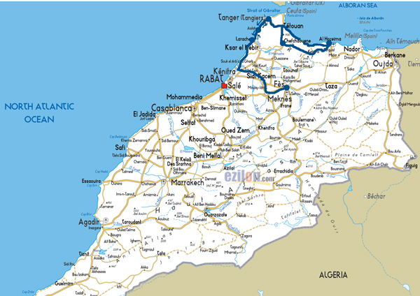 Morocco-road-map-fes