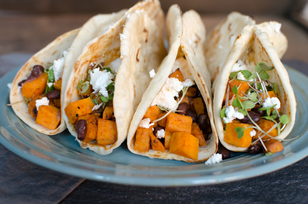 DELICIOUS and Healthy Sweet Potato Black Bean Tacos Recipe