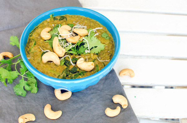 Spiced Lentil Soup with Coconut Milk