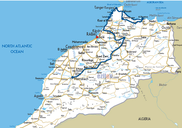 Our Morocco Adventure Map