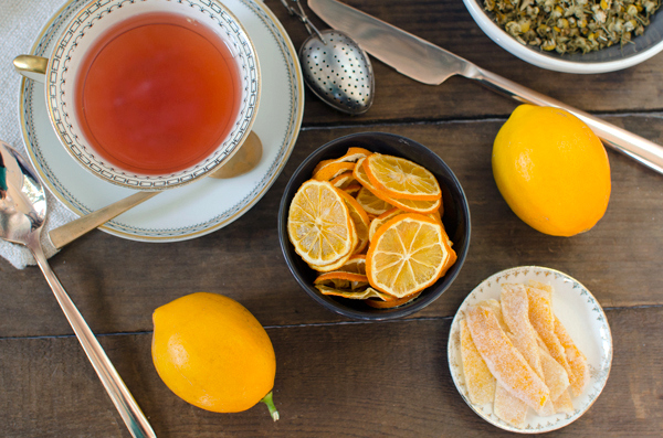 Candied Lemon Peel & Dried Lemon Slices   A Side of Sweet