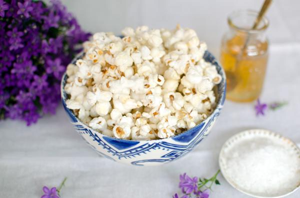Honey Sea Salt Popcorn Recipe