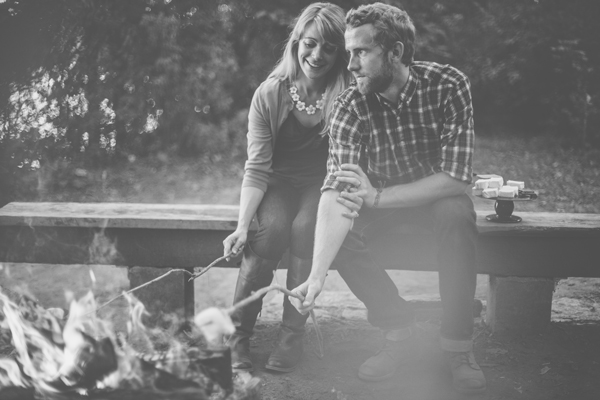 Campfire Engagement Shoot - Kinsey Mhire Photography