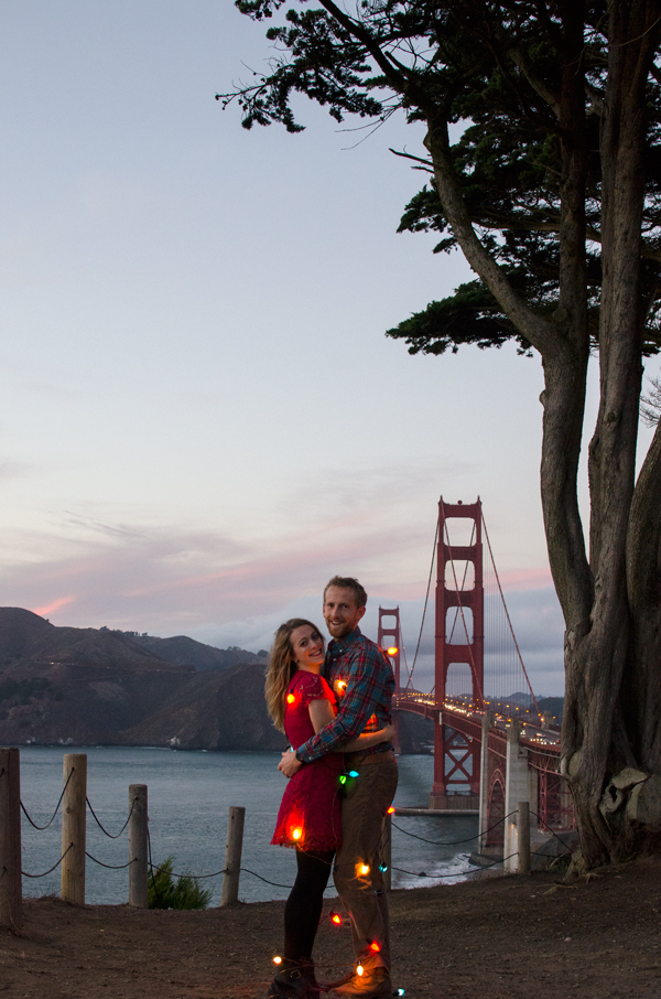 Our Holiday Lights Photoshoot + Minted Holiday Cards
