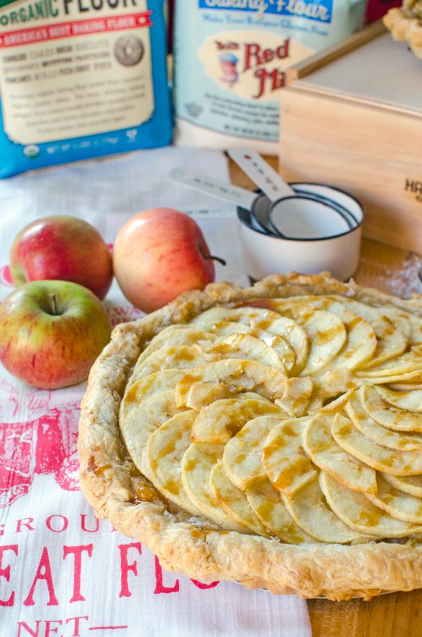 AMAZING Salted Caramel Apple Tart Recipe with opt Gluten Free Crust