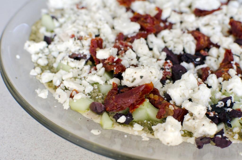 Healthy Super Bowl Recipes - Mediterranean Hummus Dip with Feta