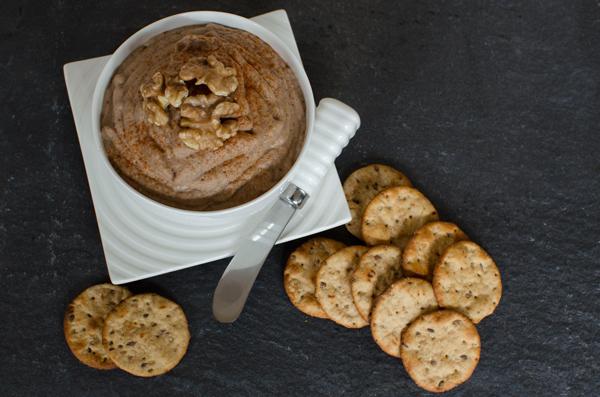 Healthy Super Bowl Recipes - Lentil Dip with Crackers