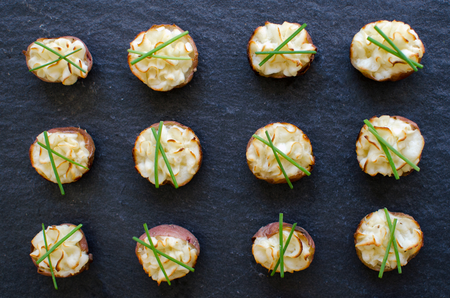 Healthy Super Bowl Recipes - Lightened Up Mini Twice Baked Potatoes