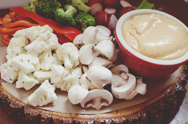 Healthy Super Bowl Recipes - Spicy Cream Cheese Adobo Dip with Veggies