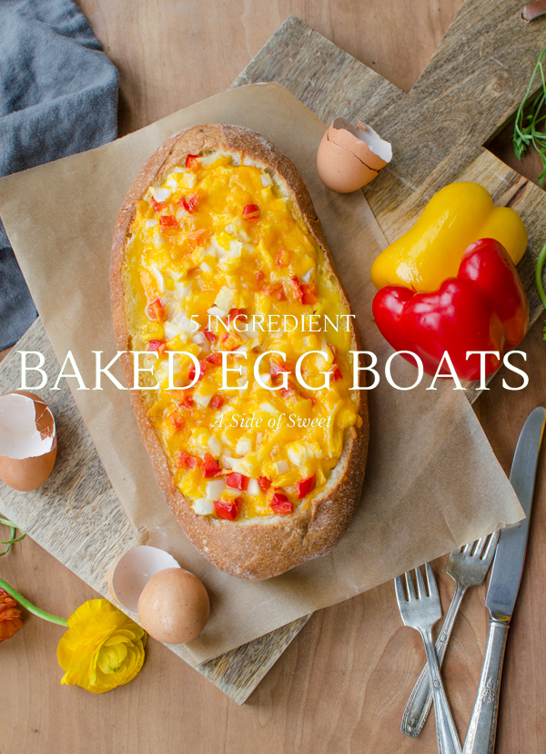 5 Ingredient Baked Egg Boats for Breakfast!