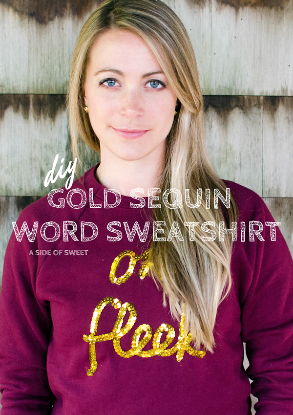 Make your own sequin word sweatshirt