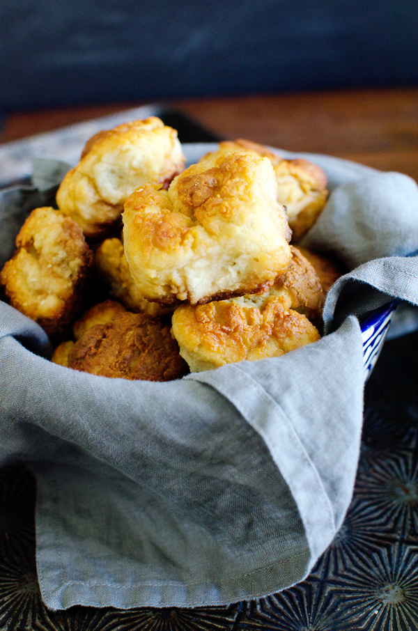 A great upgrade to a classic - Greek Yogurt Buttermilk Biscuits with Honey Butter!