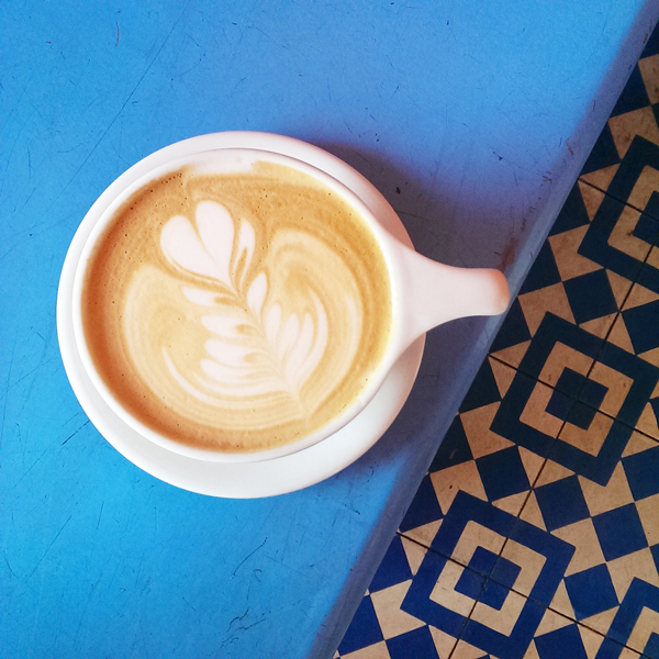 Intelligentsia Coffee in Silverlake - Hipster Heaven and Perfect for Instagram because of the blue tile