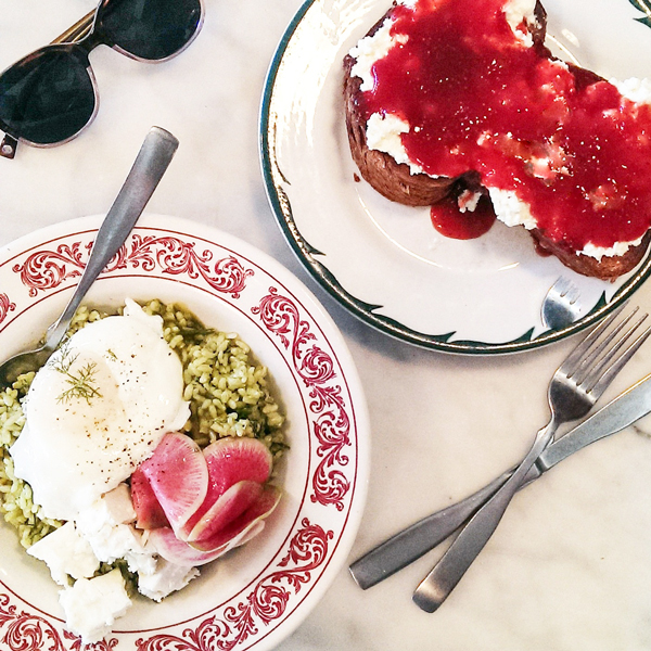 Best LA Restaurant - Sqirl in Silverlake. Great food including the sorrel pesto bowl and the brioche ricotta toast with homemade jam.