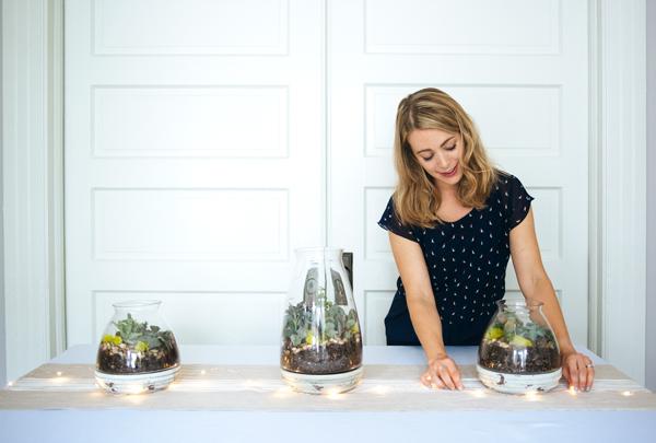 Make a drought-resistent succulent centerpiece for your next party