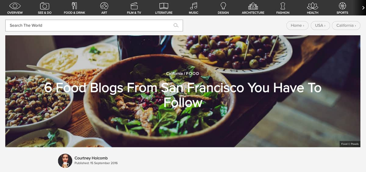Best Blogs from San Francisco, CA and Bay Area