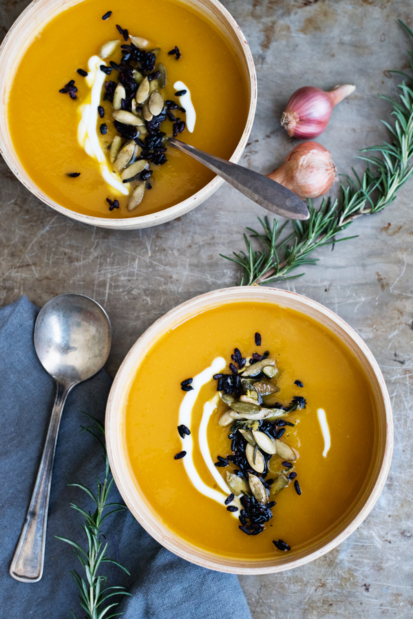 Best Roasted Butternut Squash Recipe with Rosemary Butter, Toasted Pepitas and Greek Yogurt