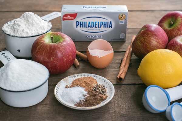 Ingredients for Apple Hand Pies and Recipe Tutorial