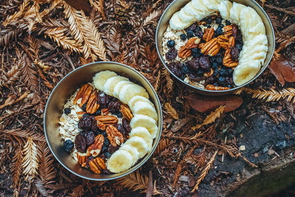 Recipes for Camping - Oatmeal for breakfast
