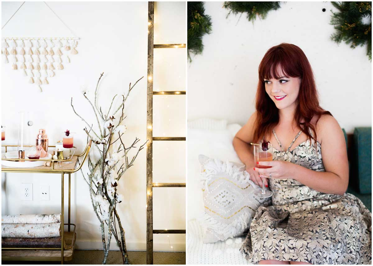 LOVE this holiday winter cocktail party design with menu idea!