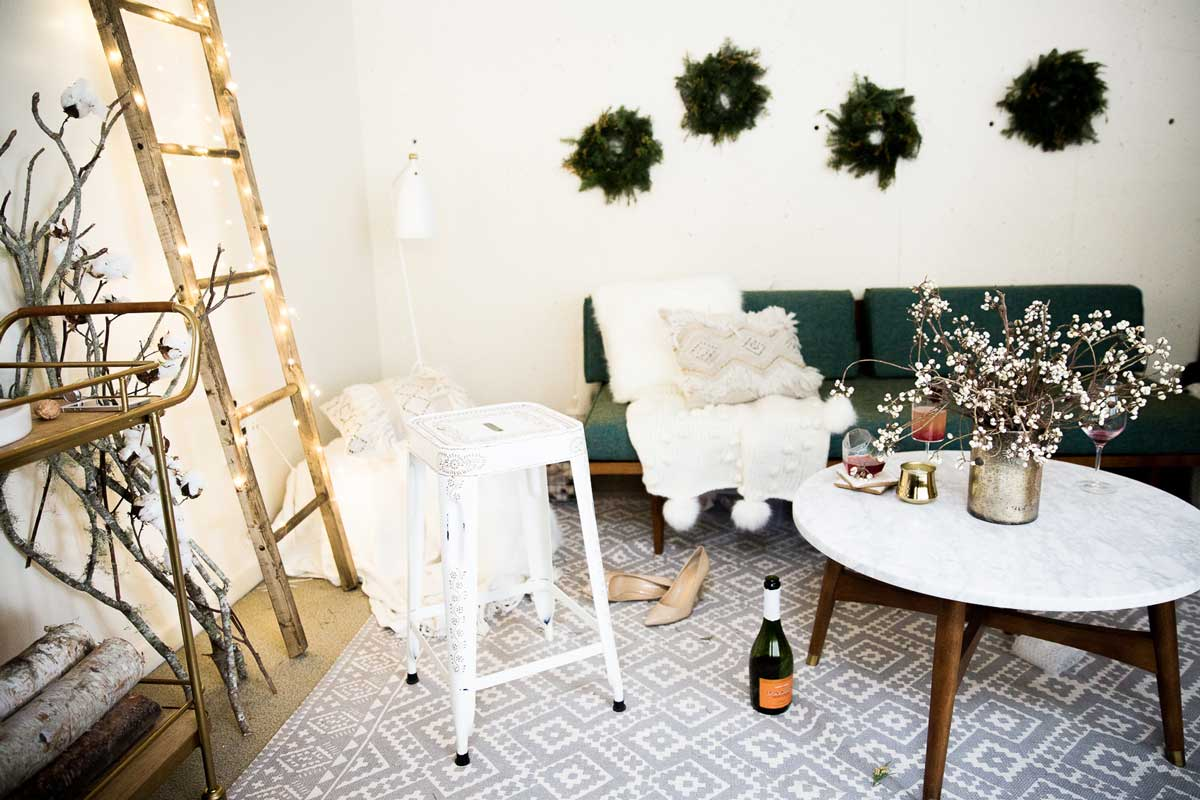 GORGEOUS Winter Themed Party or Wedding Inspiration with neutrals and a rustic vibe