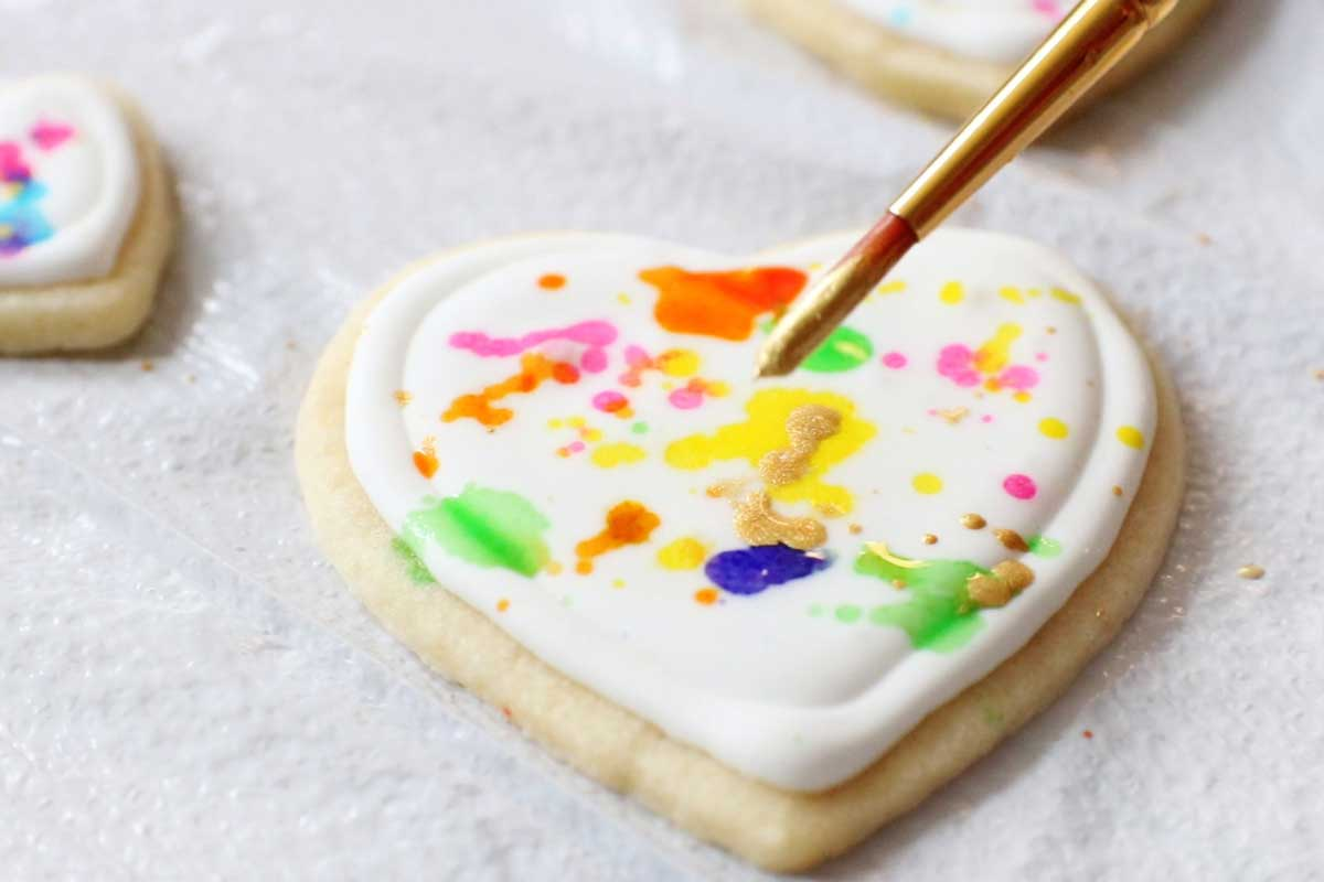 How to make edible food paint and gold luster paint