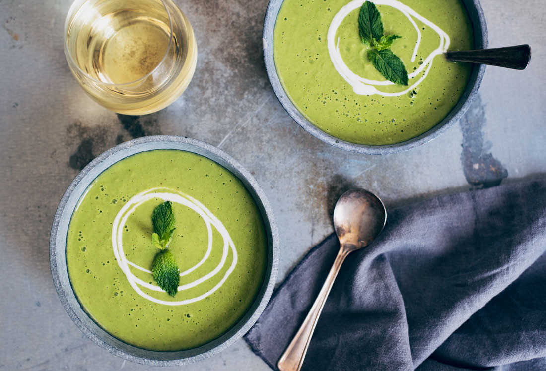 Healthy Chilled Green Gazpacho Soup Recipe - Perfect for Summer!