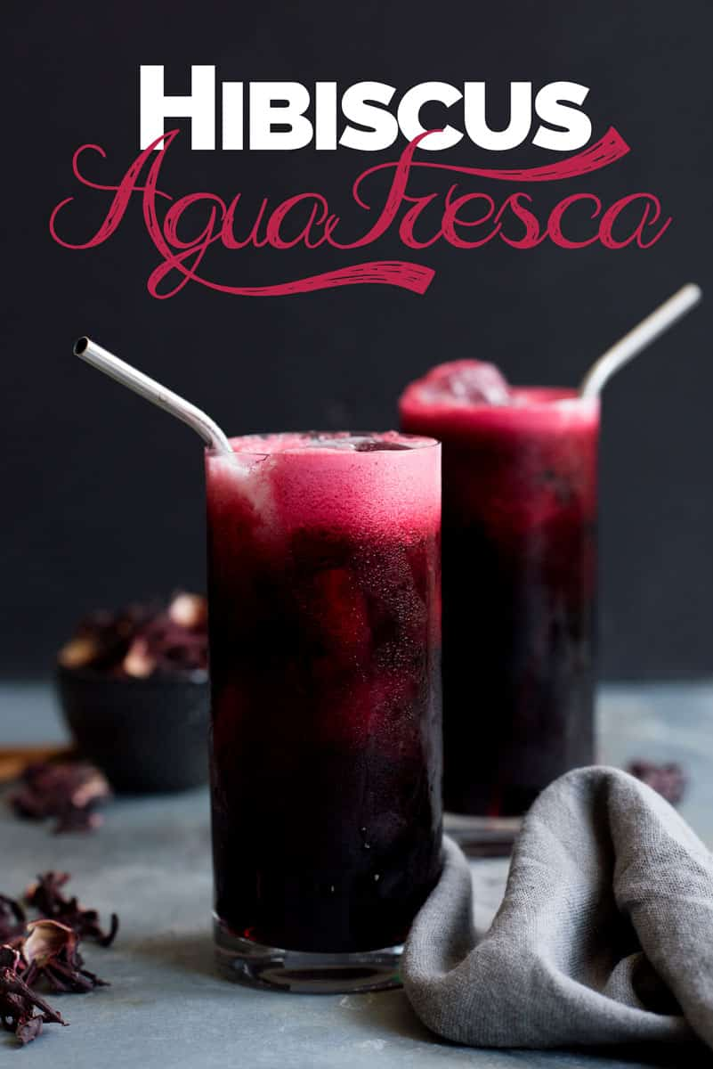Your new favorite fall cocktail recipe - Hibiscus Agua Fresca with cinnamon and orange
