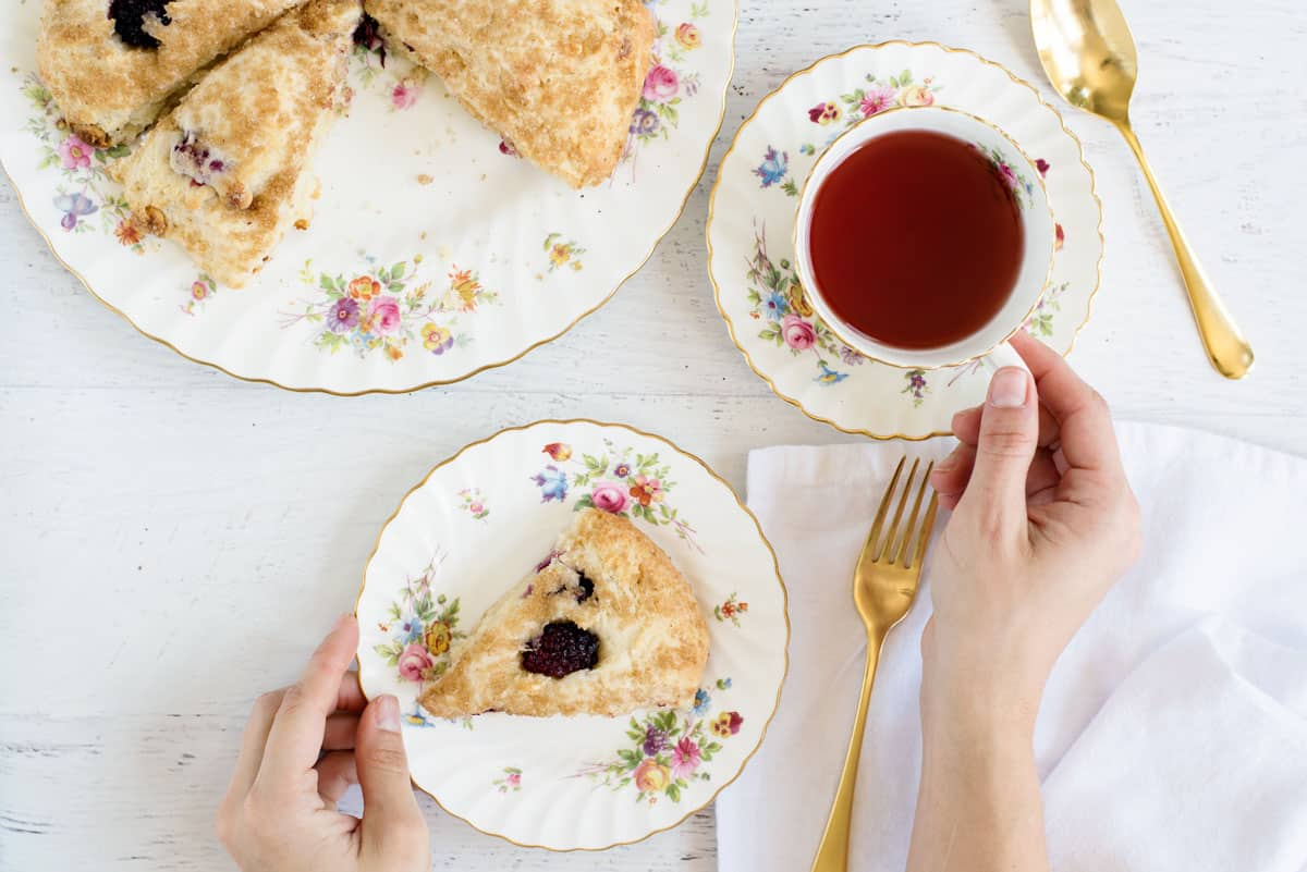 The BEST Easy Basic Scone Recipe - Takes 10 minutes and add ingredients of your choice, like raspberry and white chocolate