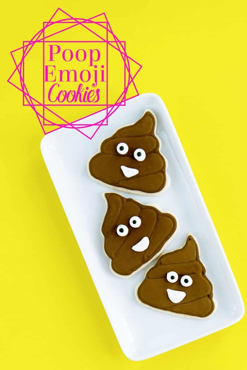 How to Make Poop Emoji Cookies - Decorate with Royal Icing
